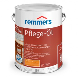 PFLEGE ÖL Aceite hidrofóbico para maderas nobles en jardín y muebles exteriores (Remmers)