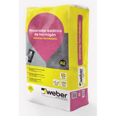 Weberep Hormiestetic - Mortero para reparaciones estéticas de hormigón