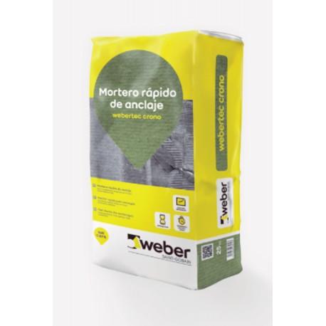 Webertec Crono - Mortero rápido para anclajes y pequeñas reparaciones