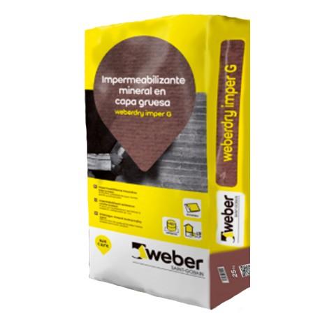 weberdry imper G - Impermeabilizante mineral en capa gruesa