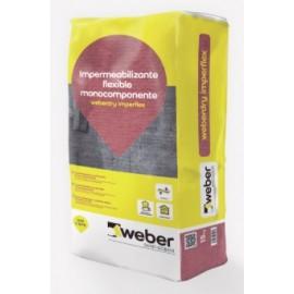 Weberdry Imperflex - Mortero impermeabilizante flexible monocomponente