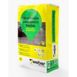 weber col flex duogel - Adhesivo flexible para porcelánico
