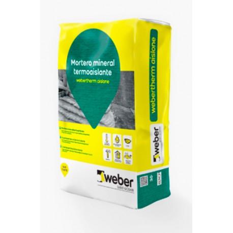 webertherm aislone - Mortero de cal aislante termoacústico y revestible del sistema weber.therm mineral