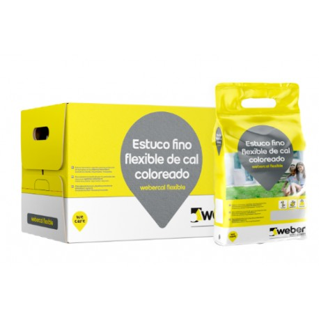 weber.cal flexible - Revestimiento fino de cal coloreado flexible