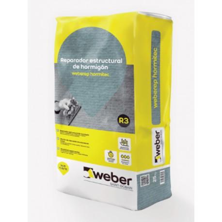 weber.tec hormirep - Mortero para reparaciones de hormigón en pequeños espesores