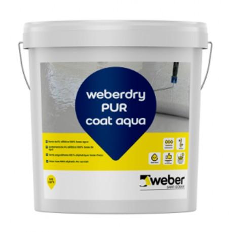 weber.dry PUR coat aqua - Revestimiento protector de poliuretano para membranas impermeabilizantes
