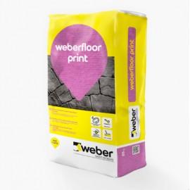 weber.floor print capa de rodadura coloreada para hormigón impreso