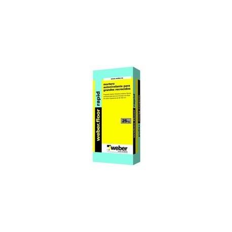 weber.floor rapid - mortero autonivelante para grandes recrecidos de secado rápido