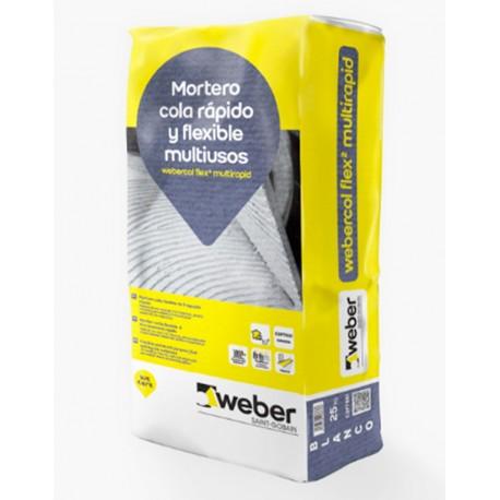 Webercol Flex² Multirapid - Mortero cola flexible de fraguado rápido