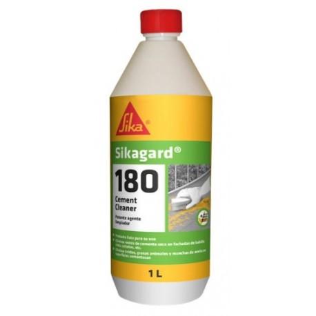Limpiador que elimina restos de cemento seco, óxido y manchas de aceite y grasa [Sikagard 180 Cement Cleaner]