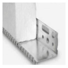 Perfil de aluminio con forma de U y con goterón para la sujeción de paneles en sistema SATE [Sika ThermoCoat 7 ES]
