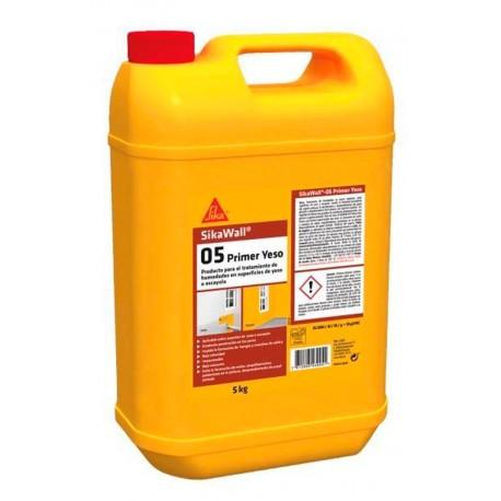 Resina acrílica en dispersión para el tratamiento de yeso [SikaWall 05 Yeso]
