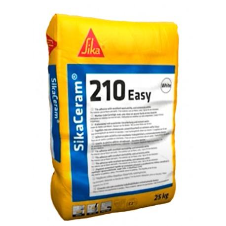 Adhesivo para la colocación de piezas cerámicas en capa fina [SikaCeram 210 Easy]