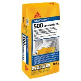 Adhesivo reforzado con fibras para impermeabilización y pegado de baldosas [Sika Ceram 500 Ceralastic]