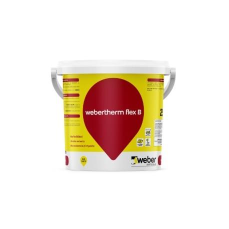 Revestimiento orgánico regularizador y adhesivo de placas termoaislantes - webertherm flex B
