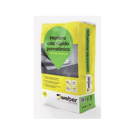 Mortero cola de fraguado rápido - Webercol Flex Duorapid