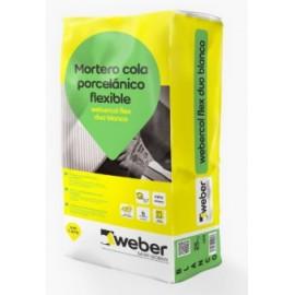 Mortero cola porcelánico flexible - Webercol Flex Duo