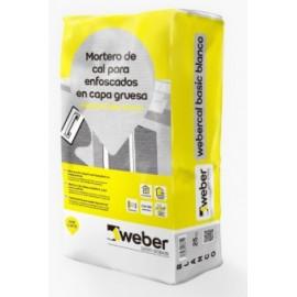 Mortero de cal mejorado para enfoscados - Webercal Basic