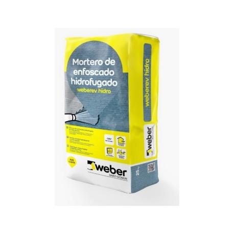 Enfoscado mineral hidrofugado en capa gruesa - Weberev Hidro