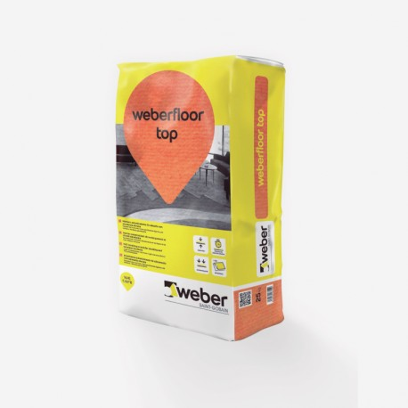 Weberfloor top - Mortero autonivelante para el alisado y regularización de pavimentos