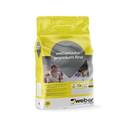 Junta flexible ultrafina aditivada con silicona hasta 6mm - Webercolor Premium Fina