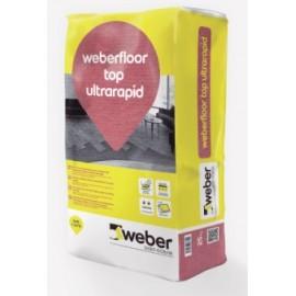 WEBERFLOOR TOP ULTRARAPID - Mortero autonivelante para el alisado y regularización de pavimentos de secado ultra rápido