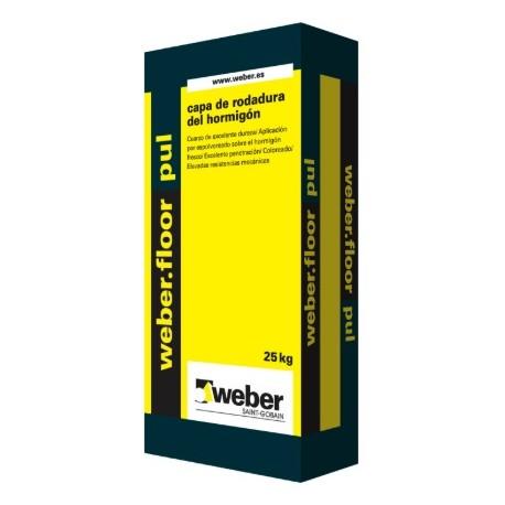 WEBERFLOOR PUL - Mortero de rodadura coloreada para uso industrial