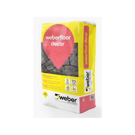 WEBERFLOOR DECOR - Pavimento contínuo decorativo acabado estampado