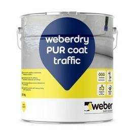 WEBERDRY PUR COAT TRAFFIC - Barniz 100% poliuretano para membranas impermeabilizantes altamente resistente al tráfico rodado