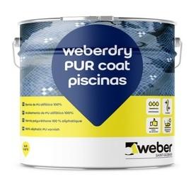 WEBERDRY PUR COAT PISCINAS - Barniz 100% poliuretano para membranas impermeabilizantes en contacto con agua en piscinas