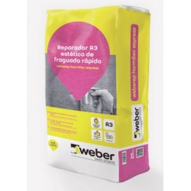 WEBERREP HORMITEC EXPRESS - Reparador de hormigón multiusos con fraguado express, Clase R3