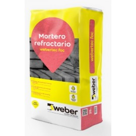WEBERTEC FOC - Mortero de montaje y anclaje refractario