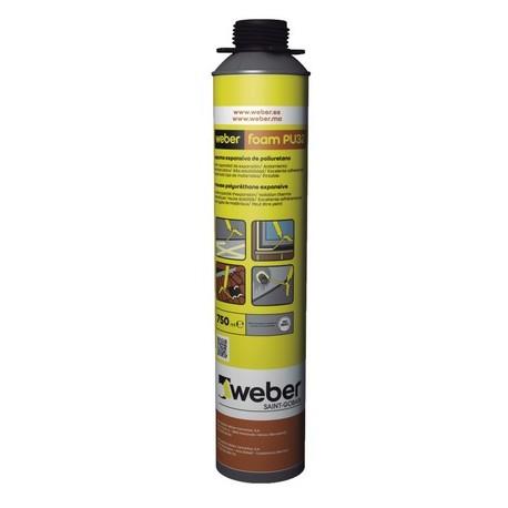WEBERFOAM PU32 - Sellador expansivo para huecos y agujeros