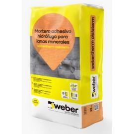 WEBERTHERM AISLATERM - Adhesivo impermeable para el anclaje de lanas minerales