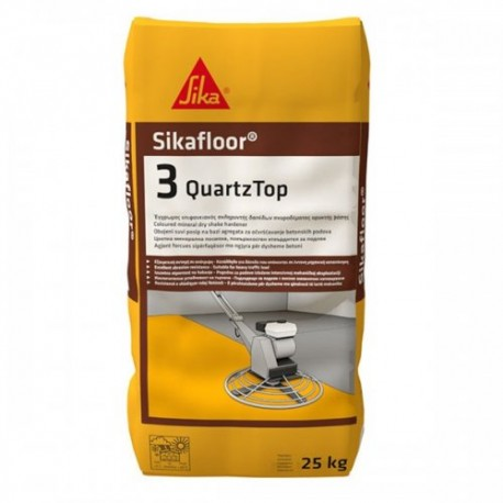 SIKAFLOOR 3 QUARTZTOP - Endurecedor mineral en polvo, coloreado, para pavimentos