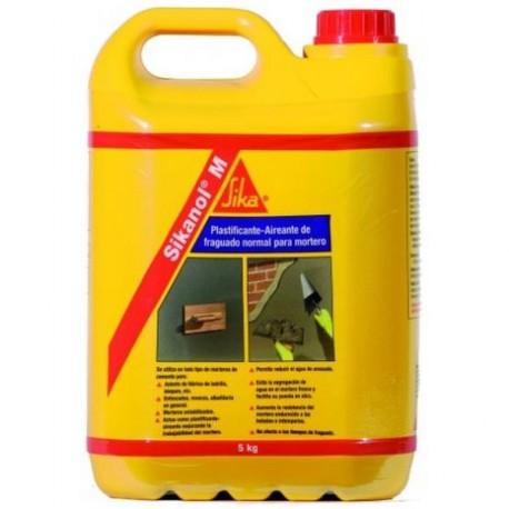SIKANOL M - Plastificante-aireante de fraguado normal para mortero