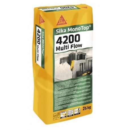 SIKA MONOTOP 4200 MULTIFLOW - Mortero de consistencia variable para la reparación y el refuerzo de estructuras