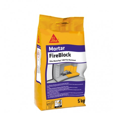 SIKA MONOTOP 100 FIRE RESISTANT - Mortero refractario para la colocación de ladrillos refractarios