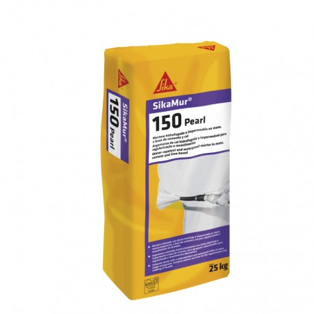 SIKAMUR 150 PEARL - Mortero hidrófugo e impermeable, autolavable y efecto perla