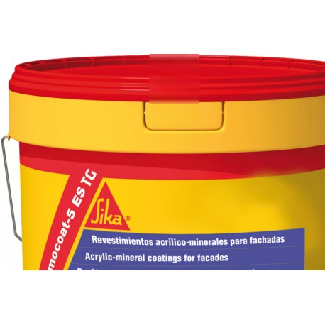 SIKA THERMOCOAT 5 ES TG - Revestimiento acrílico-mineral para la impermeabilización y decoración de fachadas (árido grueso)